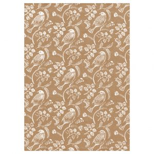 full sheet of turtle dove wrapping paper - 50cm x 70cm