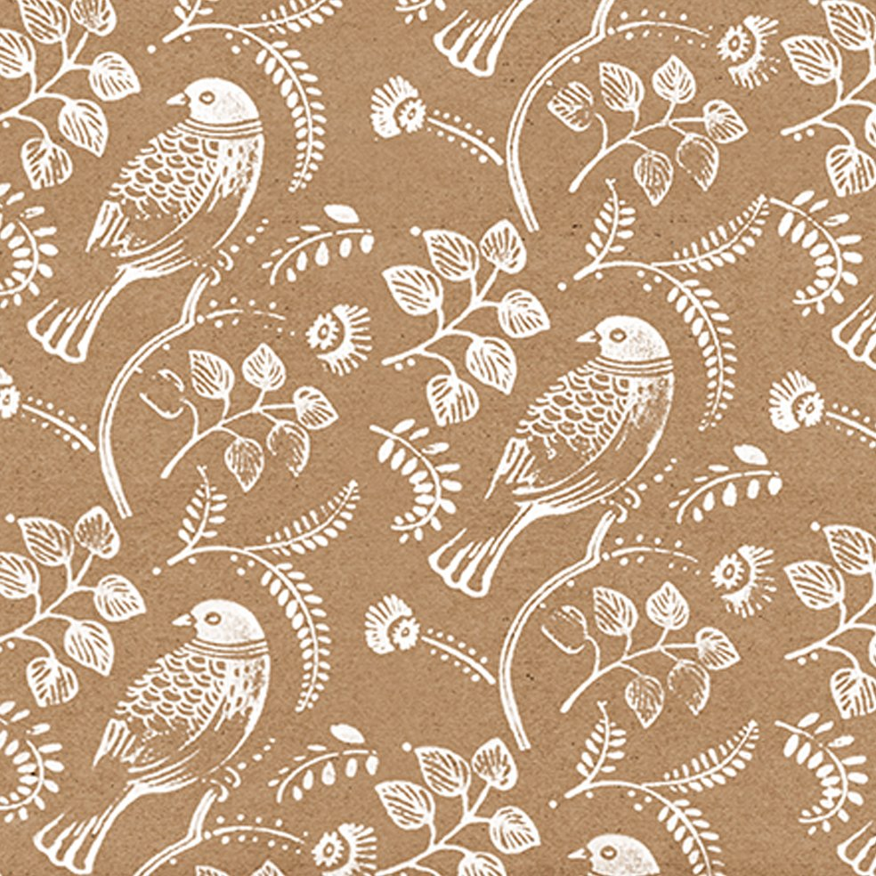 turtle dove christmas wrapping paper