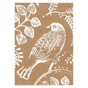 Turtle dove design printed on brown kraft