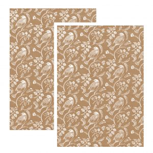 turtle dove wrapping paper sheets x 2