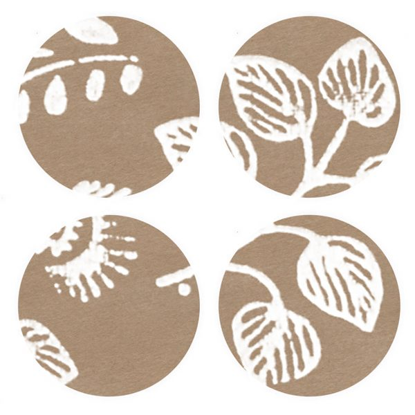 dove stickers - 4 brown kraft stickers with white pattern