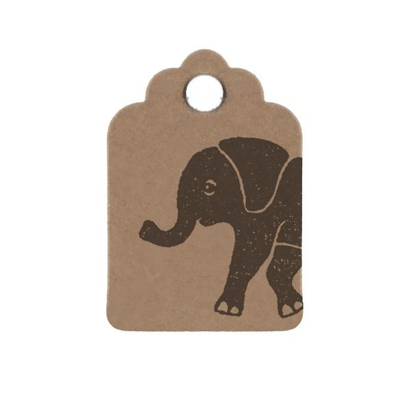 mini elephant gift tag, to match elephant gift box.