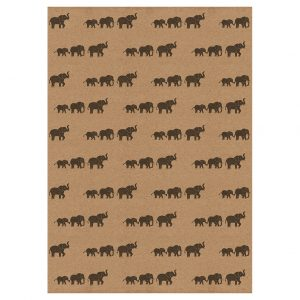 Full sheet of elephant wrapping paper