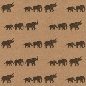 elephant wrapping paper design - pattern of marching elephants