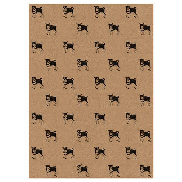 full sheet of Schnauzer wrapping paper