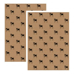 2 sheets of schnauzer gift wrap