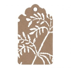 small gift tag with song bird print
