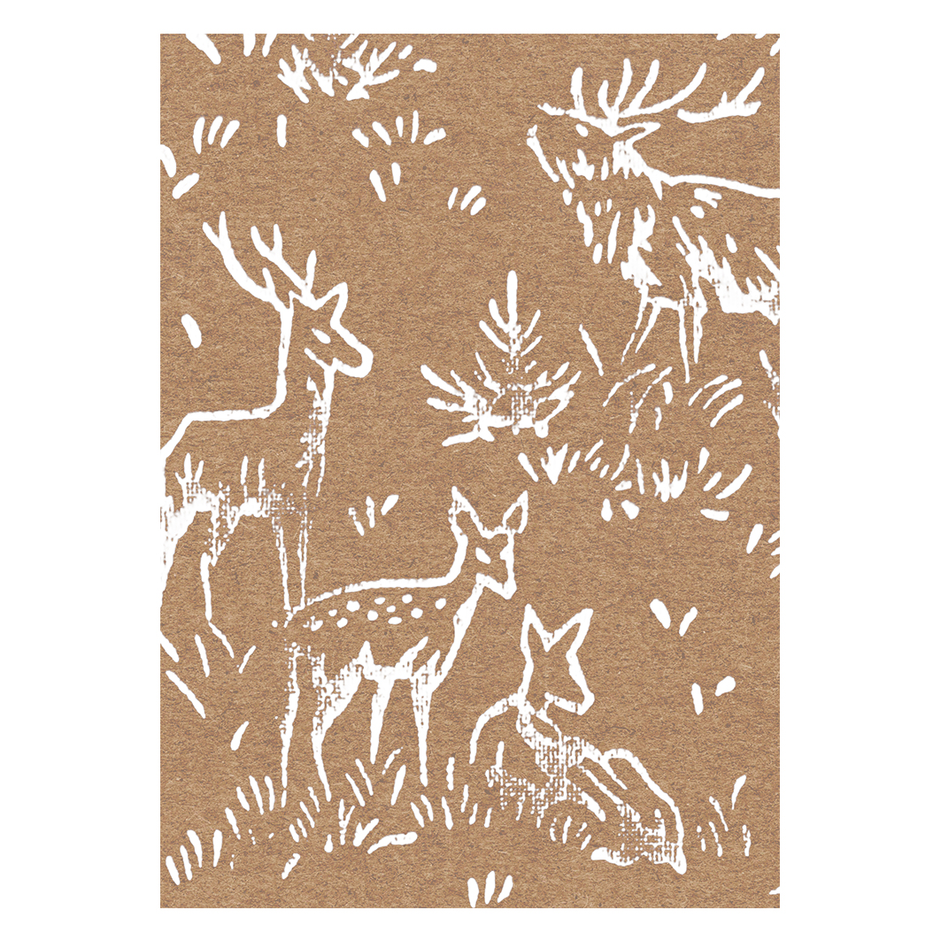 Deer Christmas Card, Handmade & Eco-Friendly - Wrapped By Alice