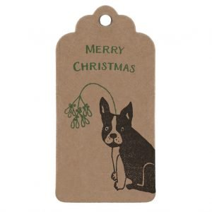 French Bulldog Christmas gift tag