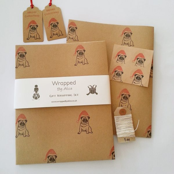 Wrapped By Alice Pug Christmas Gift wrapping set.