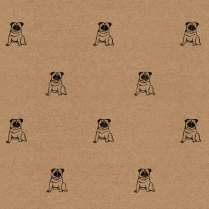 pug wrapping paper sheet