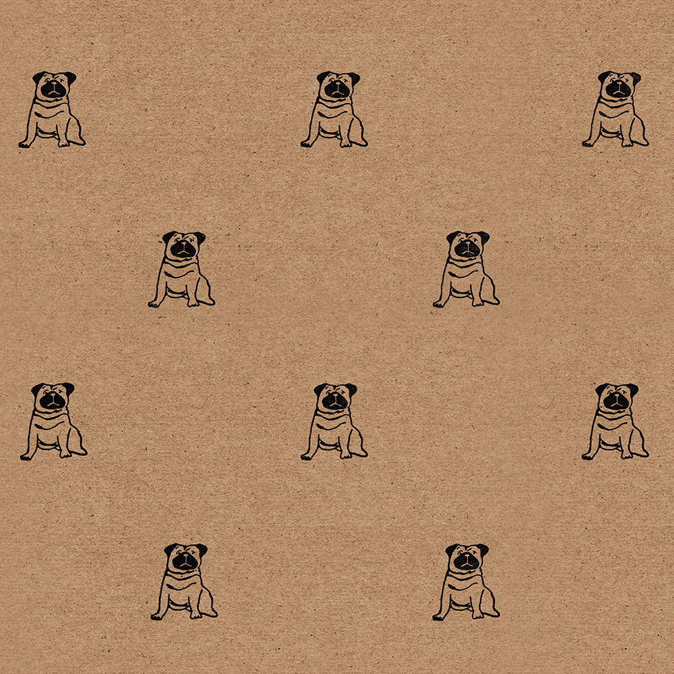 Pug wrapping paper pug gift wrap sheet wrapped by alice pug wrapping paper sheet altavistaventures Images