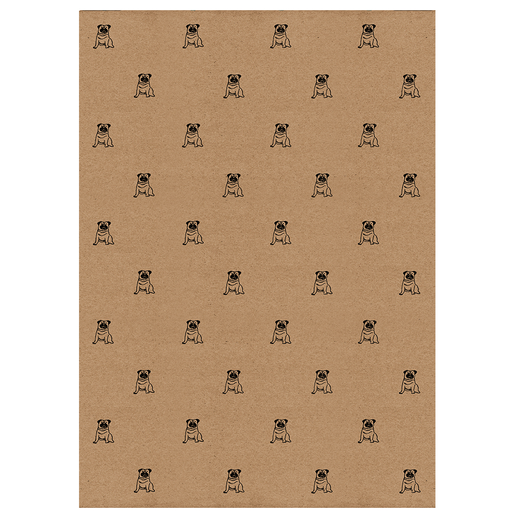 pug wrapping paper, full sheet