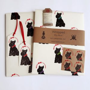 Wrapped By Alice Scottie Dog Christmas Gift Wrapping Set