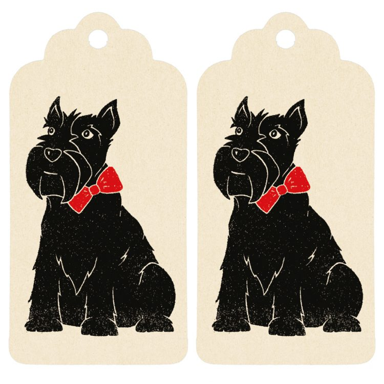 Scottie Dog Gift Tag Cute By