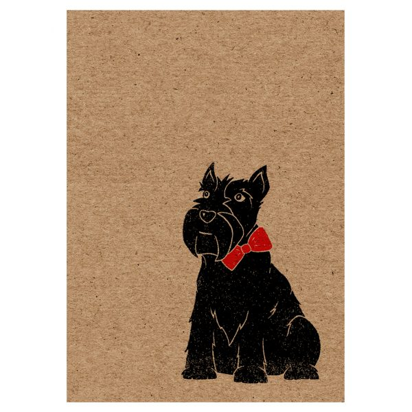 Front of Scottie Dog A7 kraft card