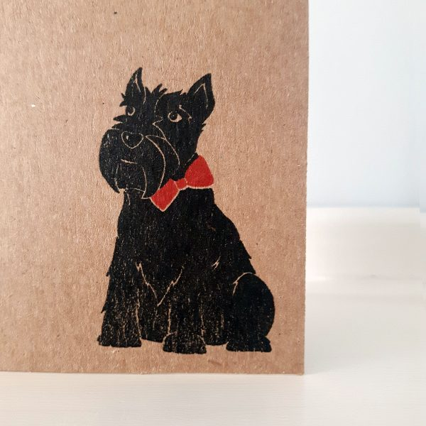 close up of A7 scottie dog card