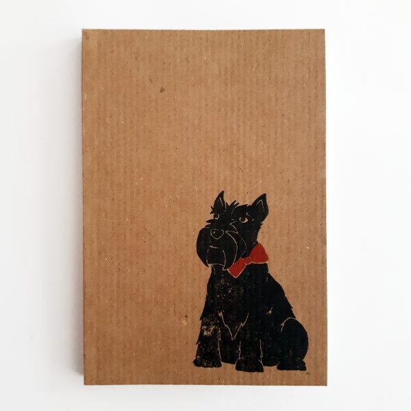 scottie dog kraft notebook