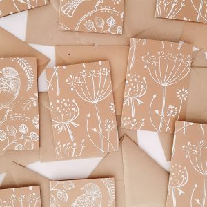 An assortment of blank cards from Wrapped By Alice