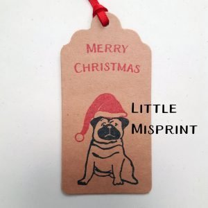Example of possible reason for a gift tag becoming a second - little misprint of the design