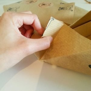 Japanese Gift wrapping tutorial step 8