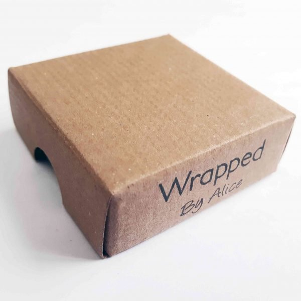 kraft presentation box for wrapped by alice brooch
