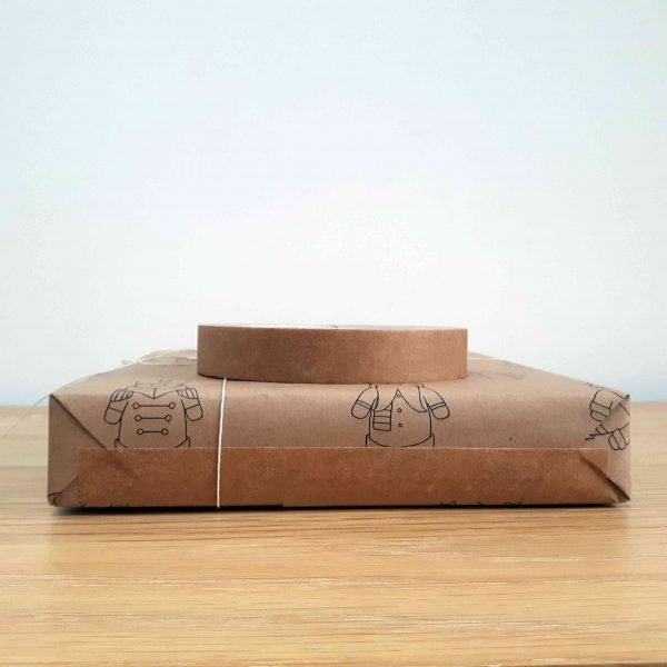 roll of 19mm biodegradable tape, on top of present wrapped with the tape.