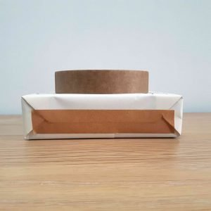24mm recyclable tape, 50 metre roll on wrapped present