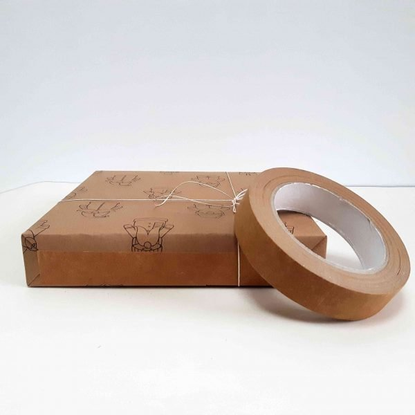 recyclable, compastable, recyclable kraft tape