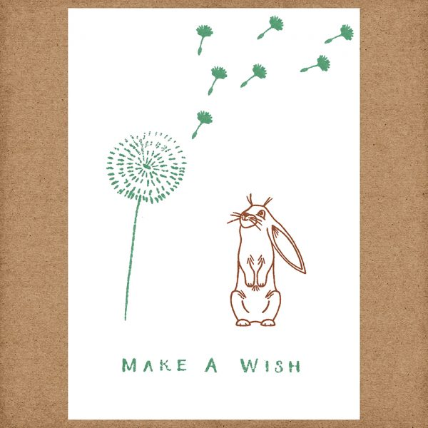 make a wish rabbit card
