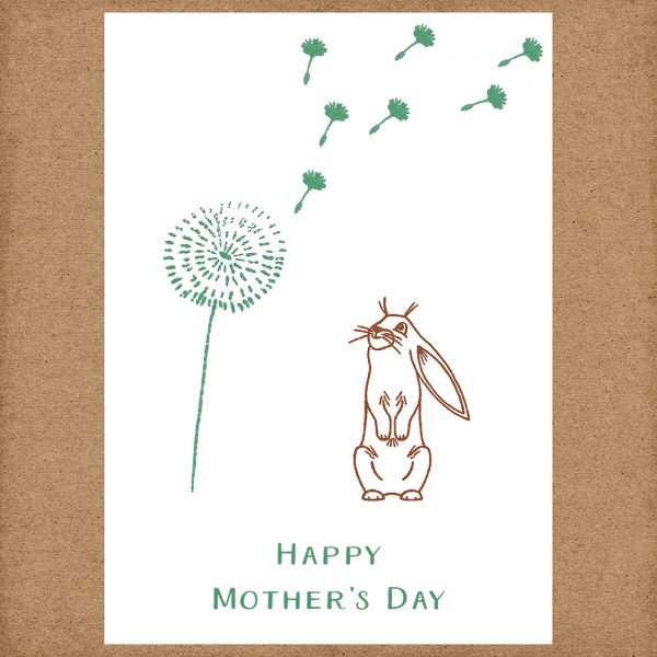 bunny mother's day card