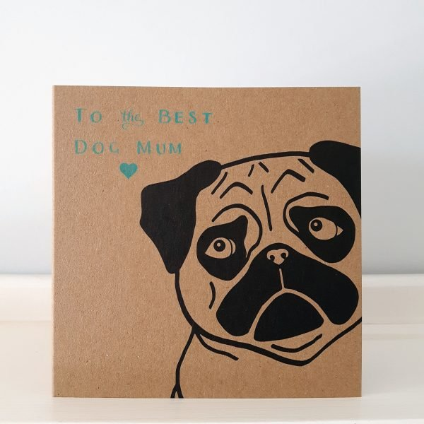 pug mother's day card