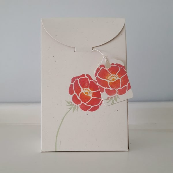 floral gift box, with mini gift tag