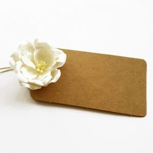 paper flower gift tag