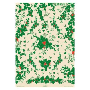 Full sheet of Botanical Christmas Wrapping paper.