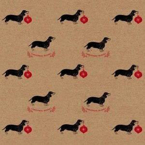 Christmas sausage dog wrapping paper