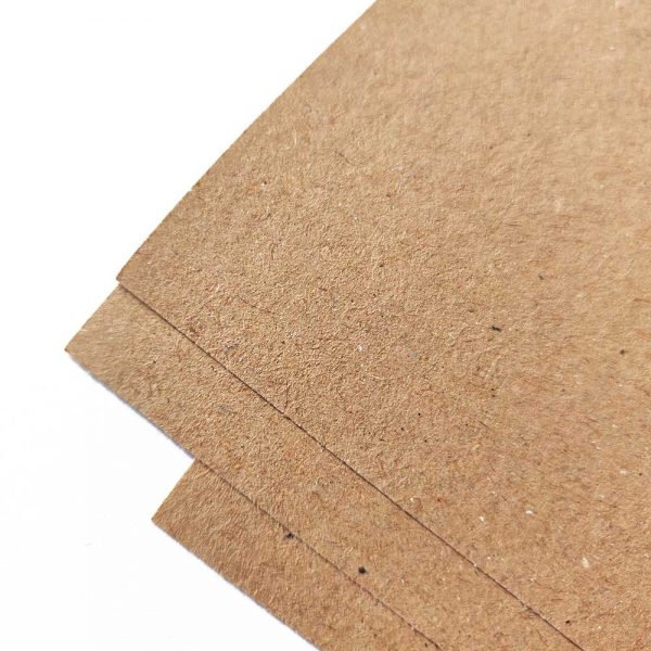 Brown kraft wrapping paper sheets