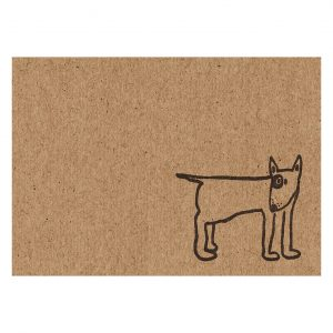 english bull terrier notecard