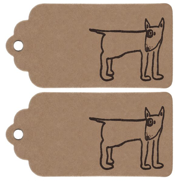 2 english bull terrier gift tags
