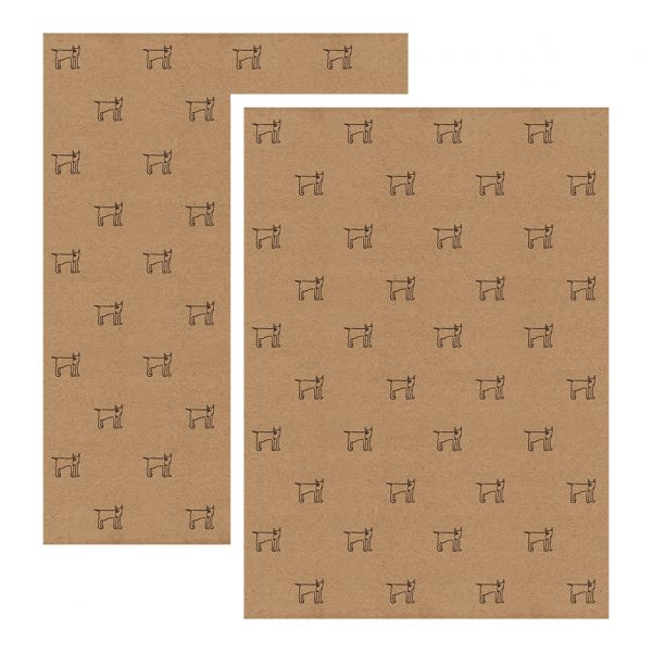 two sheets of english bull terrier gift wrap