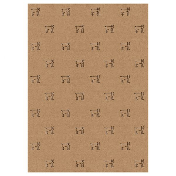 full sheet of english bull terrier wrapping paper