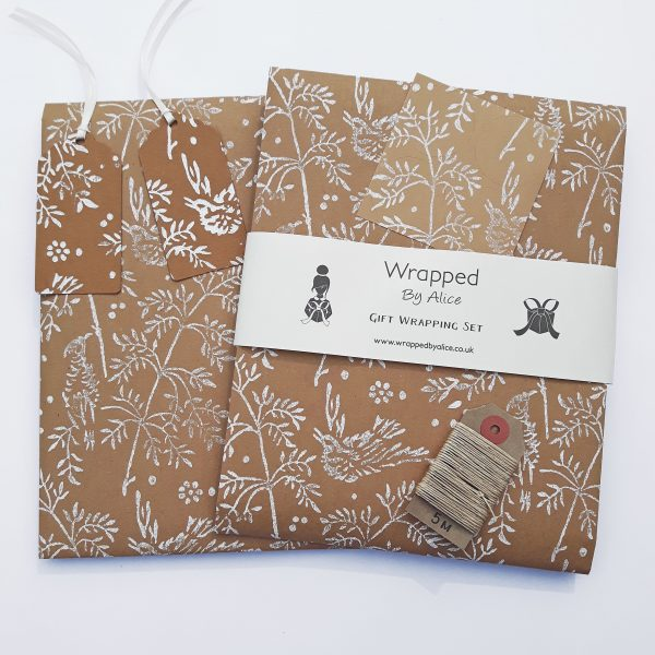 song bird gift wrapping set