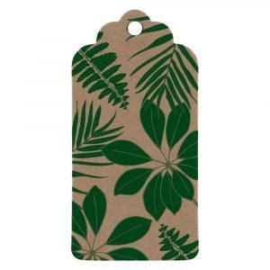 tropical leaves gift tag