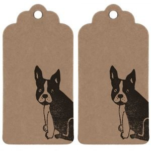 two dfrench bulldog gift tags