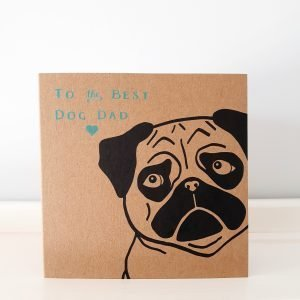 father's day card from the dog - pug design