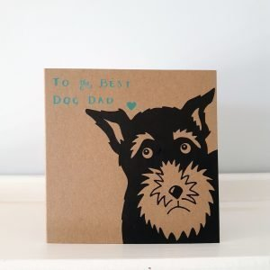 father's day card for a dog owner - schnauzer design