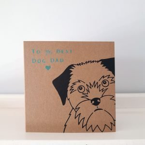 dog dad father's day card - border terrier
